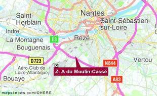La zone du Moulin Cassé à Bouguenais