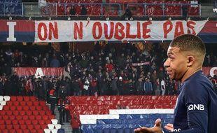 Le message du CUP lors de PSG-OM, et la réaction de Mbappé après son but.