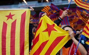 Des supporters catalans