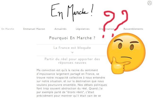 Capture d'écran du site En Marche!
