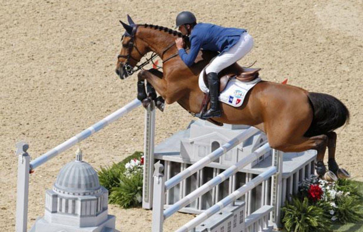 Le jockey français Olivier Guillon à Londres, le 6 août 2012 – M.HUTCHINGS/REUTERS