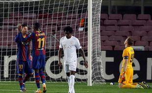 Ousmane Dembele et Messi ont fait mal à la défense adverse