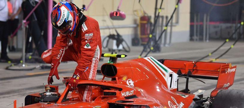 Kimi Raikkonen au Grand Prix de Bahrein, le 8 avril 2018.