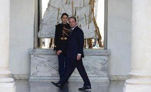 François Hollande à l'Elysée, à Paris le 12 mars 2014
