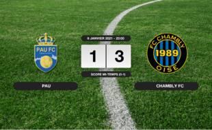 Ligue 2, 19ème journée: Succès 1-3 du FC Chambly face à Pau