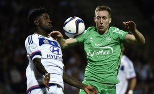 Robert Beric a été victime d'une rupture du ligament antérieur du genou lors du derby OL-ASSE (3-0), le 8 novembre 2015.