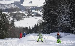 Une station de ski, illustration