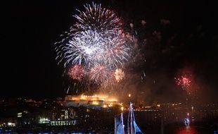 Un feu d'artifice à Marseille
