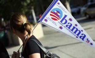 Une supportrice de Barack Obama, avant la convention démocrate de Denver, le 24 août 2008.