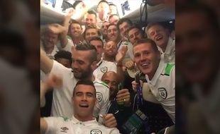 Robbie Keane et l'équipe irlandaise.