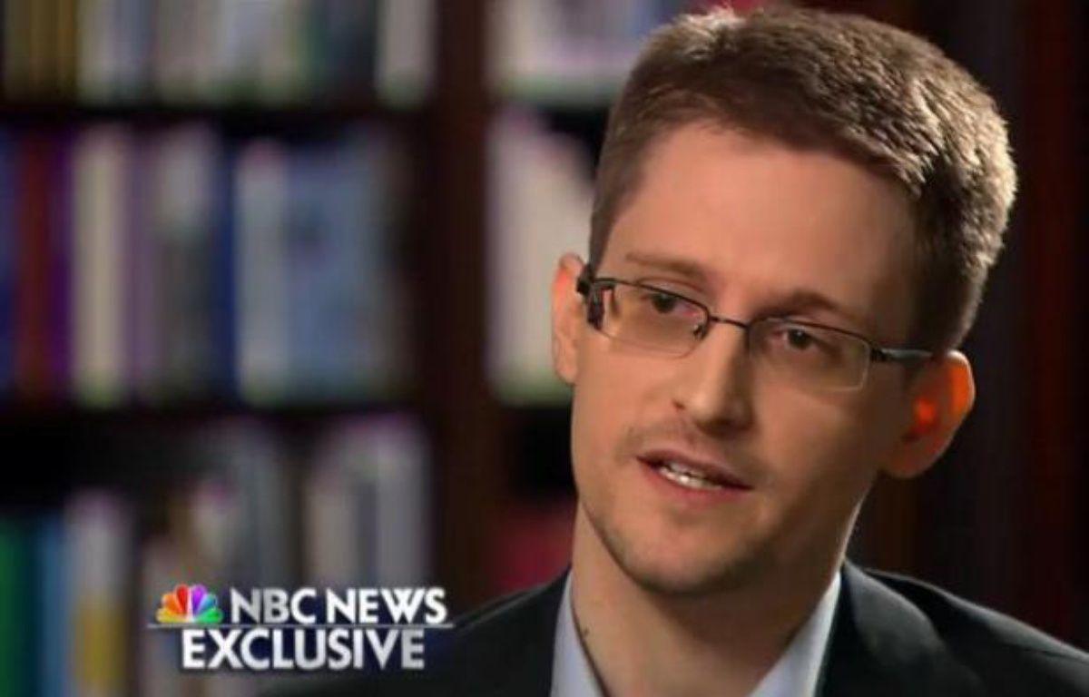 Edward Snowden, l'ancien consultant de la NSA réfugié en Russie, le 28 mai 2014 lors d'une interview exclusive à NBC, première interview aux médias américains depuis que le scandale des écoutes a éclaté début juin 2013 – - NBC NEWS