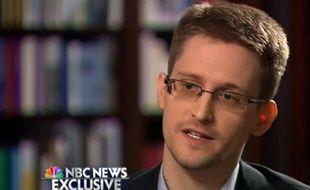 Edward Snowden, l'ancien consultant de la NSA réfugié en Russie, le 28 mai 2014 lors d'une interview exclusive à NBC, première interview aux médias américains depuis que le scandale des écoutes a éclaté début juin 2013
