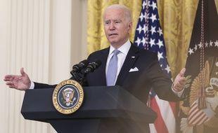 Le président américain Joe Biden à la Maison Blanche, le 29 juillet 2021.