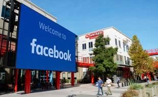 Le siège de Facebook, en Californie, en 2019 (photo d'illustration)