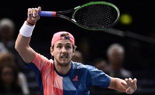 Lucas Pouille face à Andy Murray, au tournoi de Bercy, le jeudi 3 novembre.