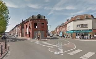 Le carrefour, à Tourcoing, où un lycéen de 17 ans a été violemment percuté le 3 avril 2017
