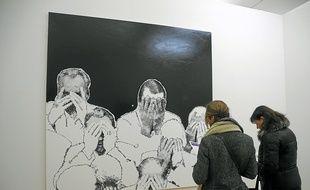 """Le tableau """" Mains """" ouvre l'expo, comme à la Biennale de Venise en 1986."""
