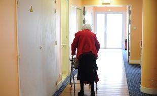 Illustration. Nantes le 27/02/2012 Des personnes âgées dans une maison de retraite