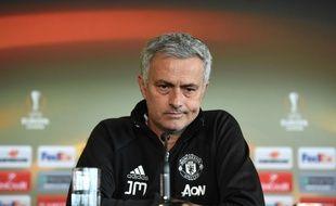 Le coach de Manchester United José Mourinho en conférence de presse, le 19 mai 2017.
