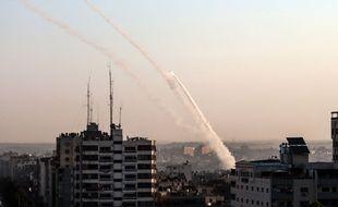 Des tirs de roquettes partent de Gaza vers Israël, le 12 novembre 2019.