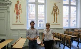 Julien Vignes, directeur de la clinique du COS, et Sylvie Recrosio, directrice de Véolia Recyclage Aquitaine