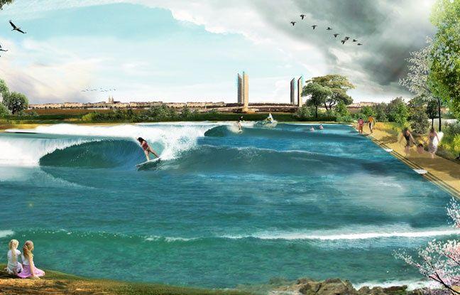 bordeaux un lac avec des vagues artificielles pour surfer toute l 39 ann e. Black Bedroom Furniture Sets. Home Design Ideas