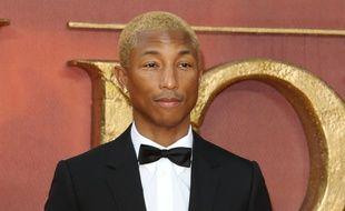 Le producteur Pharrell Williams à l'avant-première du Roi Lion à Londres