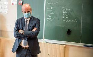 Jean-Michel Blanquer en visite dans une école, le 21 août 2020.