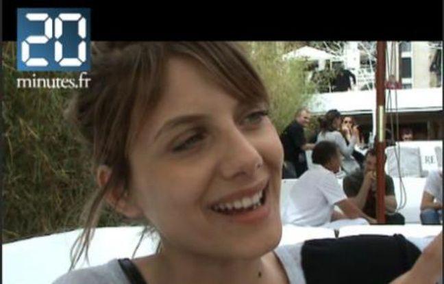 L'actrice et réalisatrice Mélanie Laurent à Cannes, le 20 mai 2008.