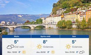 Météo Grenoble: Prévisions du mardi 18 février 2020