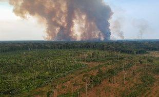 Des feux dans le sud de l'Amazonie, mardi 4 août 2020.