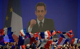 Paris le 11 mars 2012. Reunion publique nationale au parc des expositions de Villepinte avec Nicolas Sarkozy candidat UMP à l'election presidentielle 2012, president de la Republique Française.