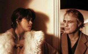 Maria Schneider et Marlon Brando dans le film «Le Dernier Tango à Paris».