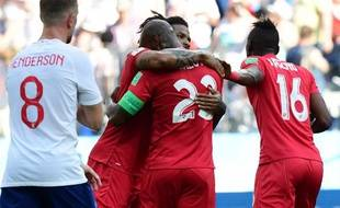 Le Panama célèbre son premier but en Coupe du monde contre l'Angleterre.