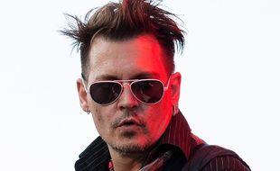 Johnny Depp en concert avec les Hollywood Vampires at Grona Lund