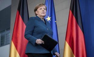 La chancelière allemande, Angela Merkel, le 22 mars 2020 à Berlin.