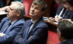 Nicolas Hulot sur les bancs de l'Assemblée nationale, le 10 avril 2018.