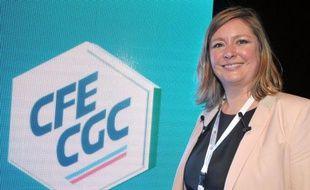 Carole Couvert, tout juste 40 ans, est devenue mercredi la première femme élue à la présidence de la CFE-CGC, à l'issue d'une élection qui s'est déroulée dans une ambiance houleuse et va l'obliger à panser les plaies d'une longue crise interne.
