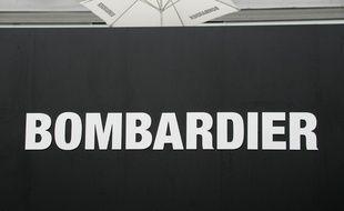 Le logo de Bombardier au salon du Bourget. (archives)