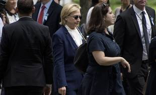 Hillary Clinton aux commémorations du 11-Septembre à Ground Zero, le 11 septembre 2016.