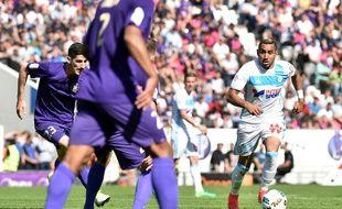 L'attaquant marseillais Dimitri Payet face au TFC, le 9 avril 2017 au Stadium de Toulouse.