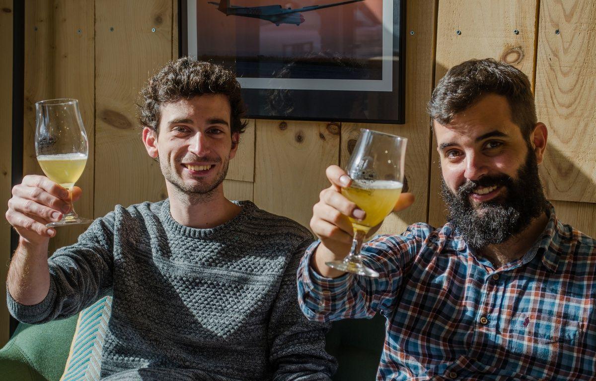 Jonathan Bois et Benjamin Serralta, les deux fondateurs de la brasserie La Garonnette. – La Garonnette