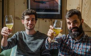 Jonathan Bois et Benjamin Serralta, les deux fondateurs de la brasserie La Garonnette.
