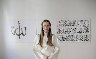 L'imame danoise Sherin Khankan, le 8 août 2016 à in Copenhague au  Danemark