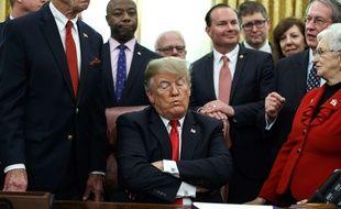 Donald Trump dans le bureau ovale de la Maison Blanche le 21 décembre 2018.