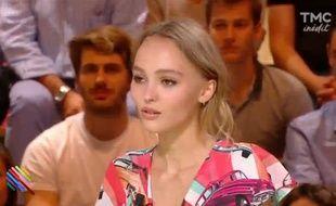 Lily-Rose Depp dans l'émission «Quotidien» de Yann Barthès sur TMC