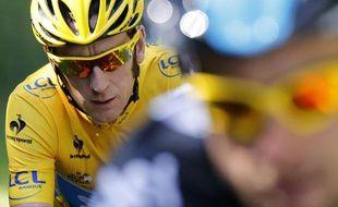 BradleyWiggins, vainqueur du Tour de France 2012, à Paris.