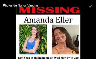 Avis de recherche d'Amanda Eller sur Facebook.
