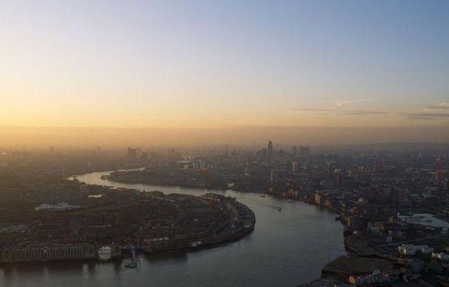 Vue de Londres dans un nuage de pollution.