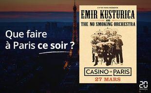 Emir Kusturica joue ce soir au Casino de Paris.